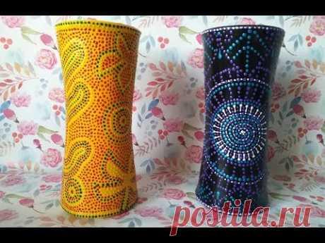 Ваза из пластиковых стаканчиков / Как сделать вазу своими руками/ Поделки из одноразовой посуды - YouTube