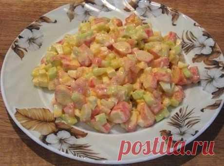 Вкусный салат с крабовыми палочками   Самые вкусные кулинарные рецепты