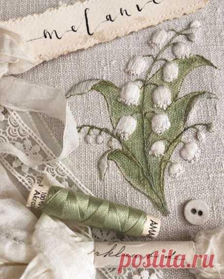 Ландыши- любимый цветок французских модниц и не только, схемы и образцы для вас   СТИЛЬ МОДА ТРЕНДЫ   Яндекс Дзен