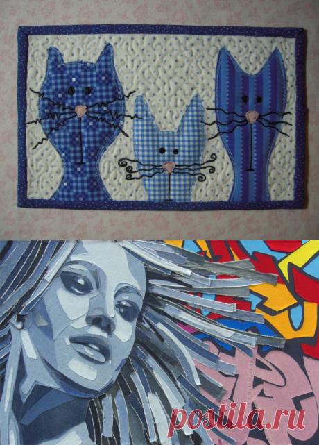 Картины из денима: как из джинсов сделать произведение искусств