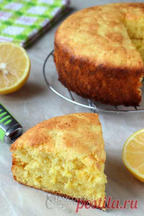 Шарлотка с лимоном — рецепт с фото пошагово