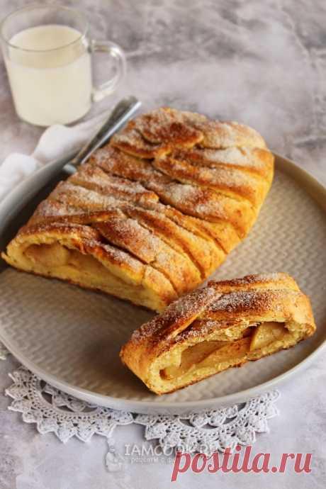 Творожный пирог с яблоками и корицей — рецепт с фото пошагово