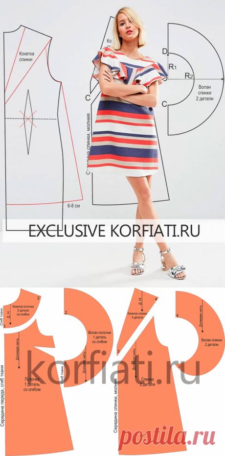 Выкройка расклешенного платья от Анастасии Корфиати