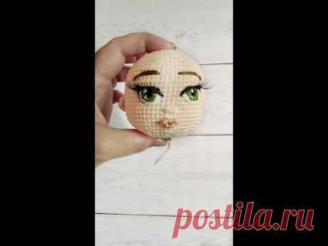 ►Оформление лица куклы | #1 Глаза и нос