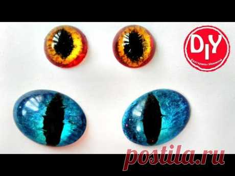 How to make eyes for cats with own hands from an epoxy\/DIY\/master class - YouTube