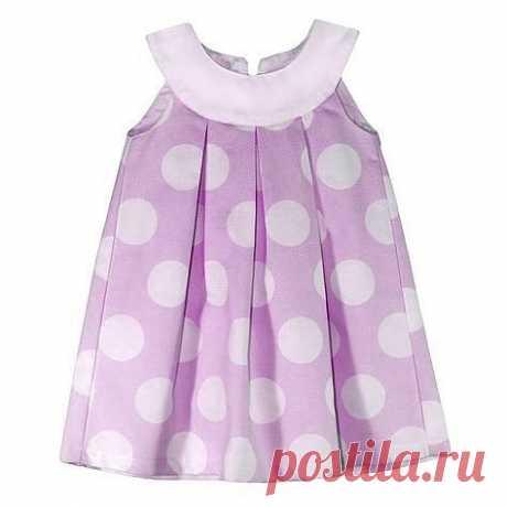 Шьём платье на кокетке со складками на возраст от 1 года до 14 лет. выкройки