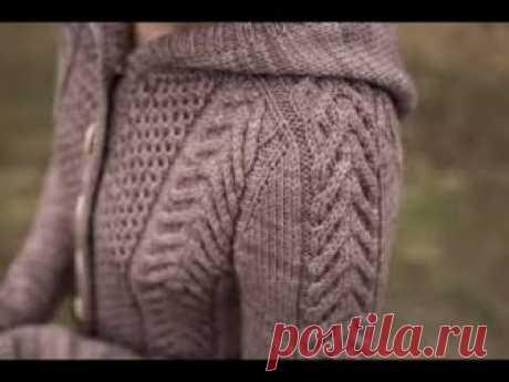 Изделие с погоном и узор Коса простой  расчет петель вязание