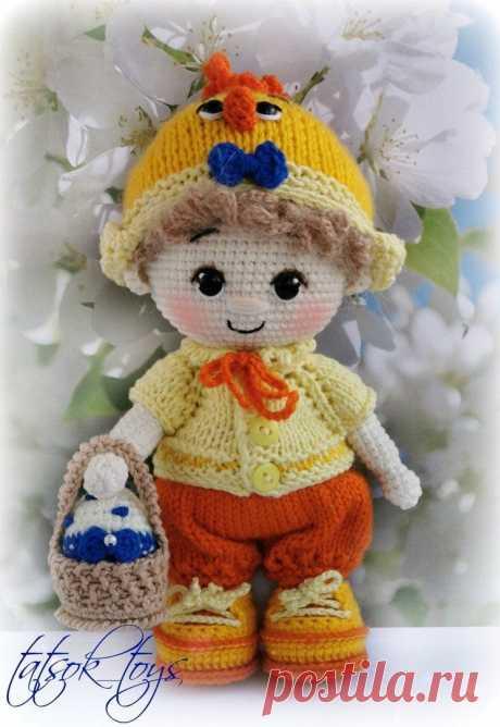 Пупс малыш в костюме цыпленка | Схемы амигуруми