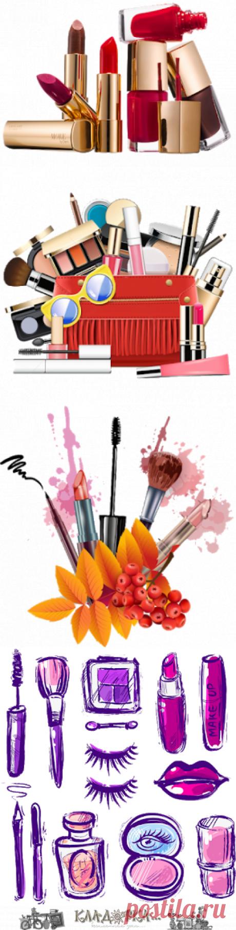 Кладовка...: Мейкап (make up) - косметика - на прозрачном фоне