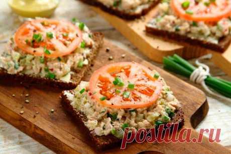 Бутерброды с тунцом консервированным и огурцом – пошаговый рецепт с фото.