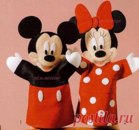 Кукольный театр своими руками – выкройки Микки Мауса и Минни Мауса