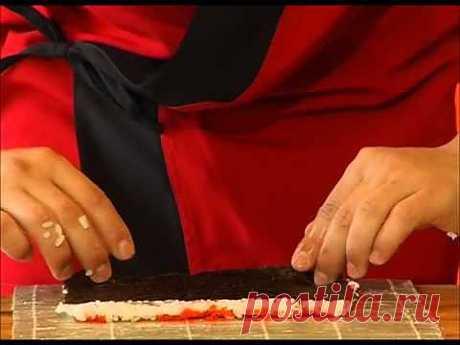 Как приготовить суши и роллы в домашних условиях - YouTube
