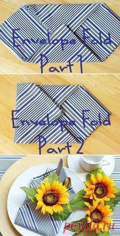 Салфетки для праздничного стола: 10 вариантов