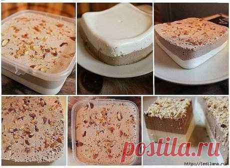 Ванильно – шоколадный творожный десерт