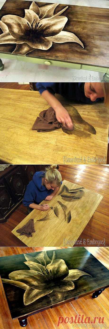 Оригинальный способ декорирования мебели..