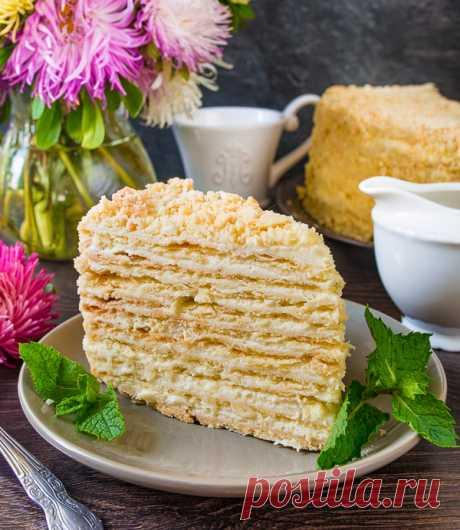 Как просто и быстро приготовить торт «Наполеон», что пальчики оближешь
