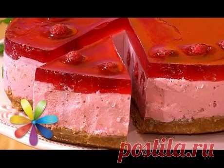 Творожный пирог с малиной без выпекания - Все буде добре - Выпуск 628 - 02.07.15