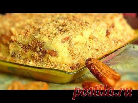 Ленивый Наполеон:Торт из печенья - VIKKAvideo - YouTube