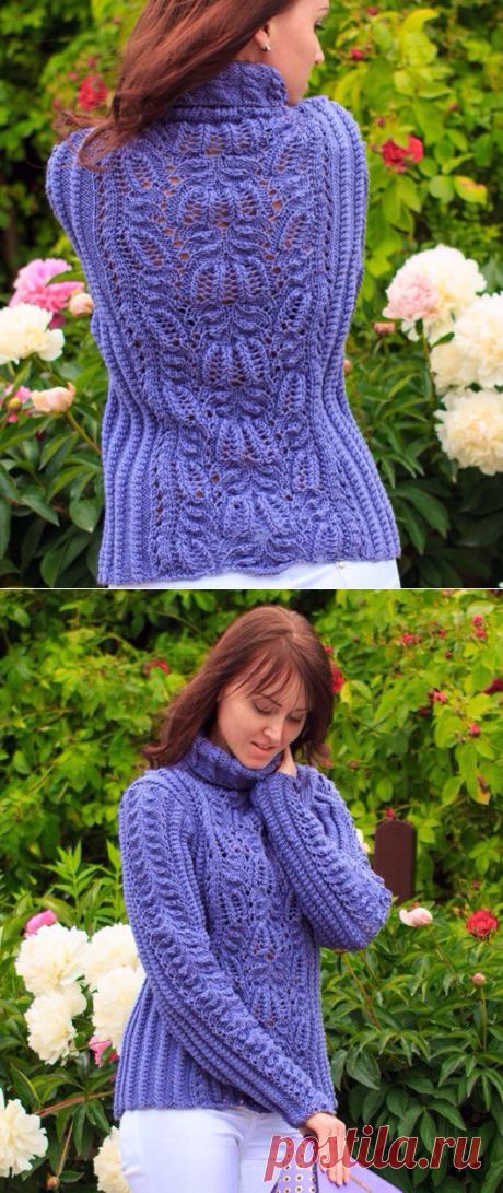 Красивый ажурный свитер | ДОМОСЕДКА