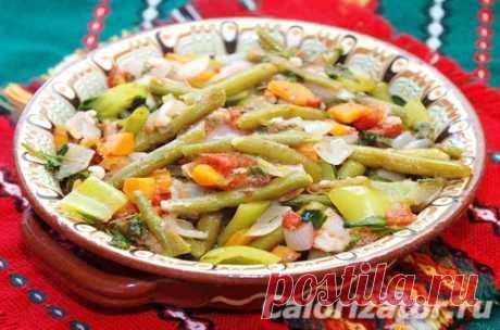 Стручковая фасоль тушеная с овощами - калорийность, состав, описание - www.calorizator.ru
