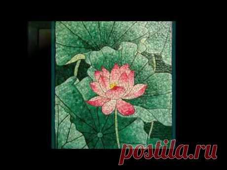 Картины из яичной скорлупы. Мозаика из скорлупы.