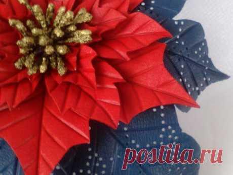 Мастер-класс : Создаем из кожи брошь «Рождественский цветок. Пуансеттия» | Журнал Ярмарки Мастеров