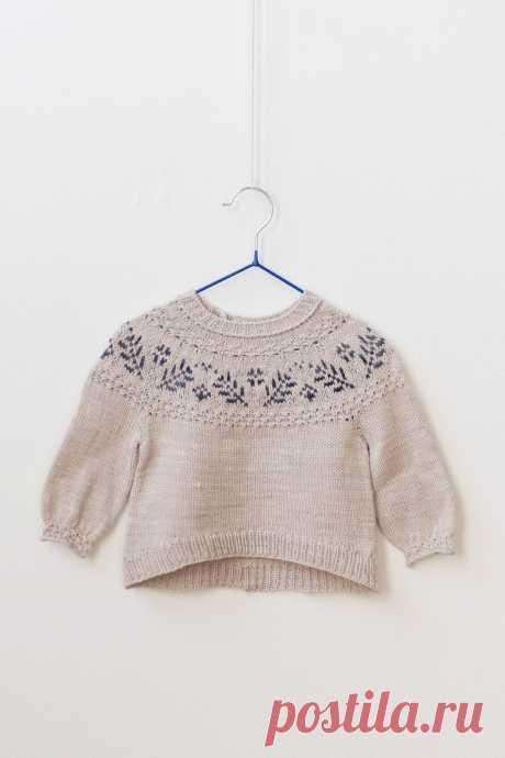 Ravelry: Вязаный спицами детский пуловер Little Dream от EweKnit Toronto