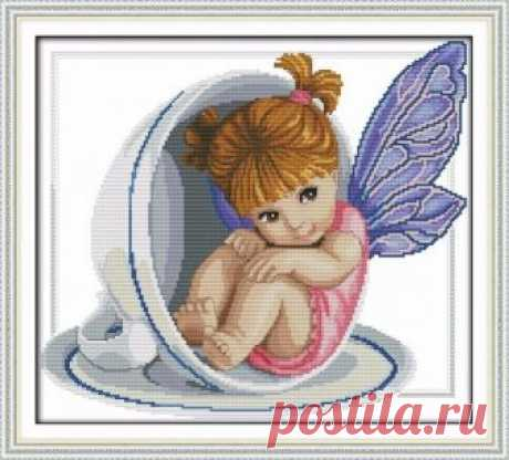 Little angel in the cup, angel, cup, cross stitch pattern, cross stitch, modern cross stitch, embroidery, DIY, needlework, girl, people, kit Little angel in the cup, angel, cup, cross stitch pattern, cross stitch, modern cross stitch, embroidery, DIY, needlework, girl, people, kit, gift  ☻ More cross stitch kits : https://www.etsy.com/shop/OscolShop?ref=seller-platform-mcnav§ion_id=24630773  ► Include: Canvas Cotton (without
