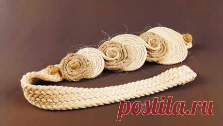 Подхват из шнура, круги №90768 - купить в Украине на Crafta.ua