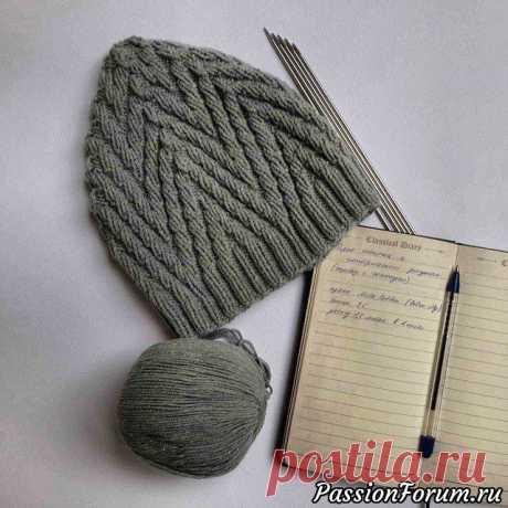 Красивые тапочки и шапочка. МК | Вязание спицами аксессуаров