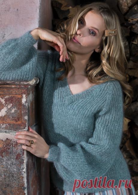 Мохеровый вязаный пуловер | ДОМОСЕДКА