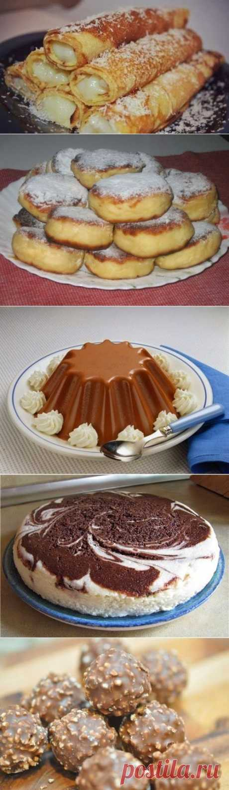 Лучшие кулинарные рецепты: Десерты