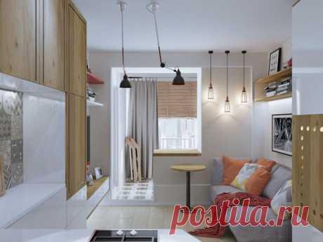 Дизайн интерьера маленькой квартиры — всего лишь 18 кв. м
