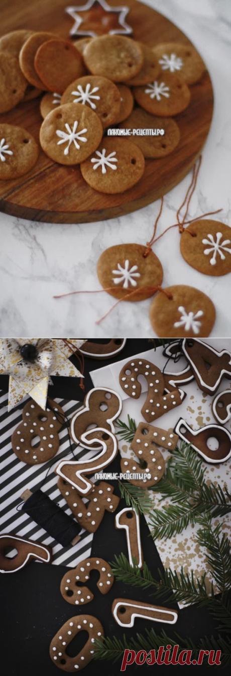 Рождественский адвент-календарь из имбирного печенья