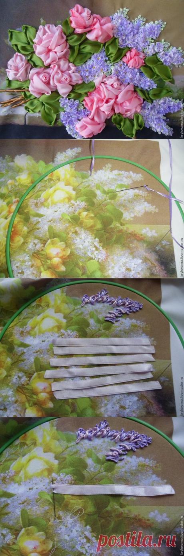 Вышиваем сирень лентами: udav102