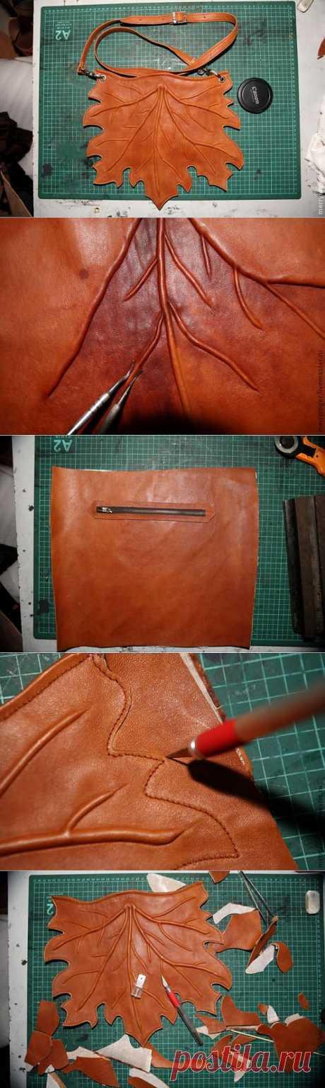 Оригинальная сумка Кленовый лист - мастер-класс.