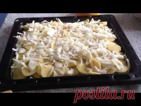 Картошка с фаршем в духовке. Potatoes with meat in