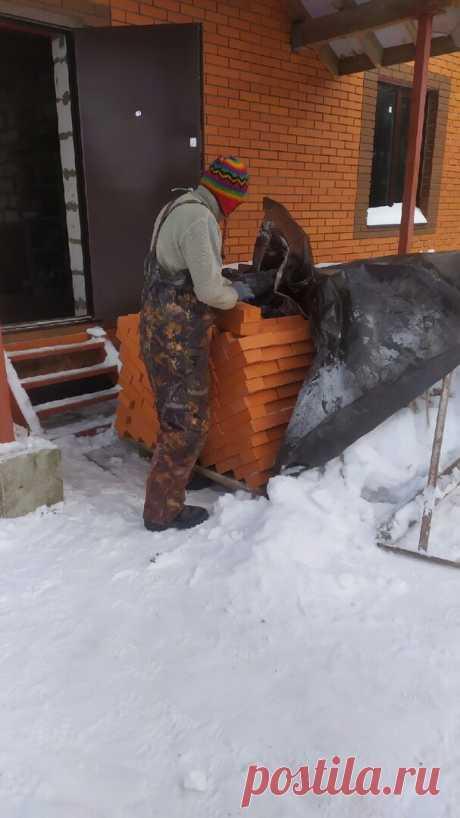Подготовка объекта для постройки каминопечи зимой