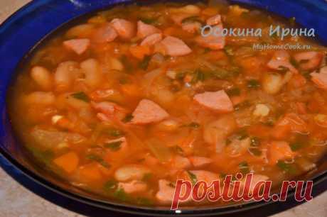 Суп с сардельками. Рецепт с фото