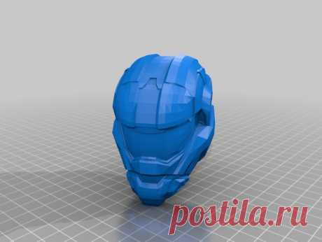 """Halo Reach Helmet by Jace1969 An old file from my Pepakura making days that I discovered in Pepakura Designer you can export to .OBJ and in """"Windows 10 3DBuilder or 123Design"""" export to .STL. Unfortunately I don't have the skills yet to improve further on the model, but maybe someone out there would like to tidy it up. Please upload it back as a remix if you do take the time to clean it up. Please note this was originally uploaded to the net as a free down load. So I cant ..."""