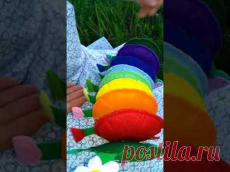 Гусеница из фетра, игрушка для детей
