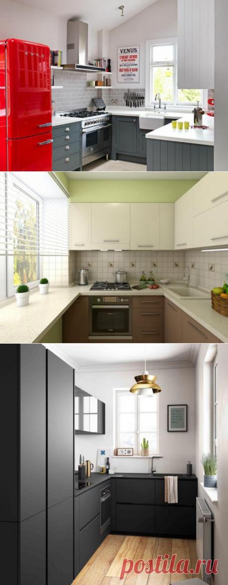 Планировка кухни в хрущевке: 5 метров с холодильником