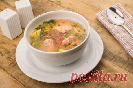 Вкуснейшая уха из семги, при виде такого супа сразу потекут слюньки!