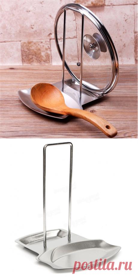 Кухня кастрюля из нержавеющей стали горшок стойки стойки крышки стоять ложка держатель крышки сиденья на Banggood sold out
