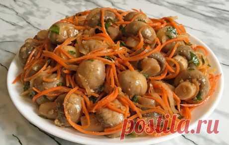 Шикарная закуска: грибы по-корейски
