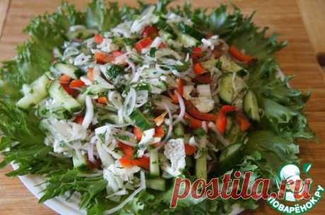 Овощной салат с жареной курицей – кулинарный рецепт