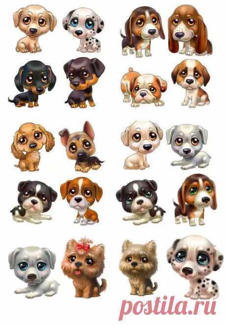 Раскраски для щенков - Coloringfile.com