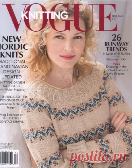 Журнал Vogue Knitting №12 Holiday 2017.