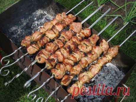 Шашлык по болгарски. Когда к нам на дачу приезжают гости, то комфортно питаться как вегетарианцам, так и плотоядным. Скажу даже больше: для вегетарианцев болгарская кухня просто находка.