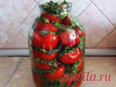 Помидоры по-корейски Продукты для помидоров 2 кг помидоров 4 штуки болгарского перца 2 головки чеснока 2 стручка острого перца (делала без него) базилик сельдерей укроп петрушка 100 мл 9% уксуса 100 г […]